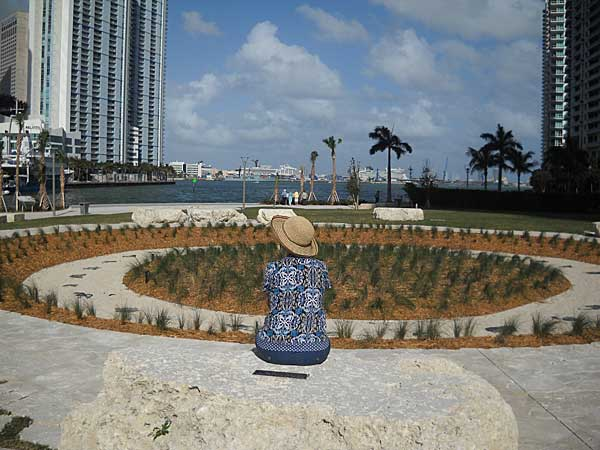Miami Circle Park view in downtown Miami