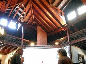 Wooden ceiling and framework Pool at Princess Place lodge, Palm Coast, Florida