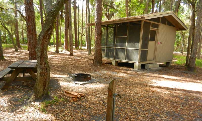 A little cabin in the florida woods photos of state park for Florida state parks cabins