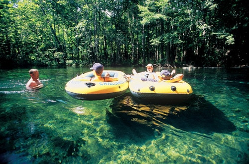 Ichetucknee tubing in Central Florida