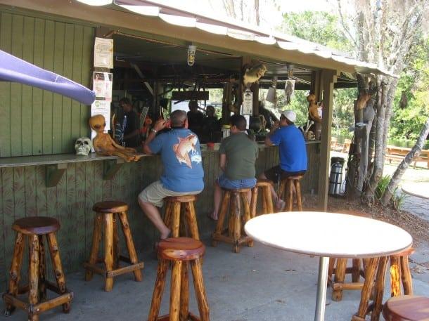 The tiki bar at Wekiva Island marina
