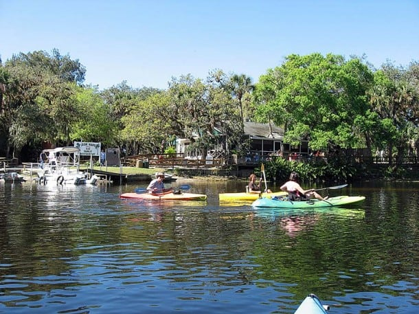 Paddling past the Snook Nook on the Myakka River