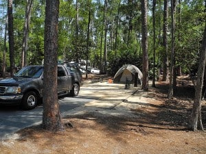My campsite at Fort Wilderness