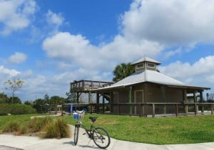 Trailhead for Bluegill Trail on PGA Boulevard in Palm Beach Gardens.