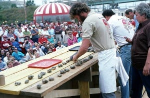 oyster shucking contest at florida seafood festival